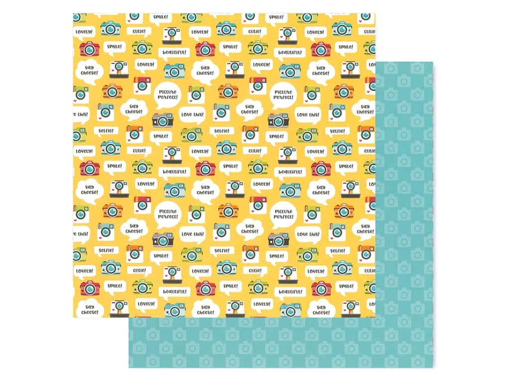 Doodlebug Collection I Heart Travel Paper 12 in. x 12 in. Picture This (25 pieces)