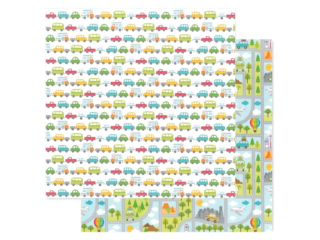 Doodlebug Collection I Heart Travel Paper 12 in. x 12 in. Going Places (25 pieces)