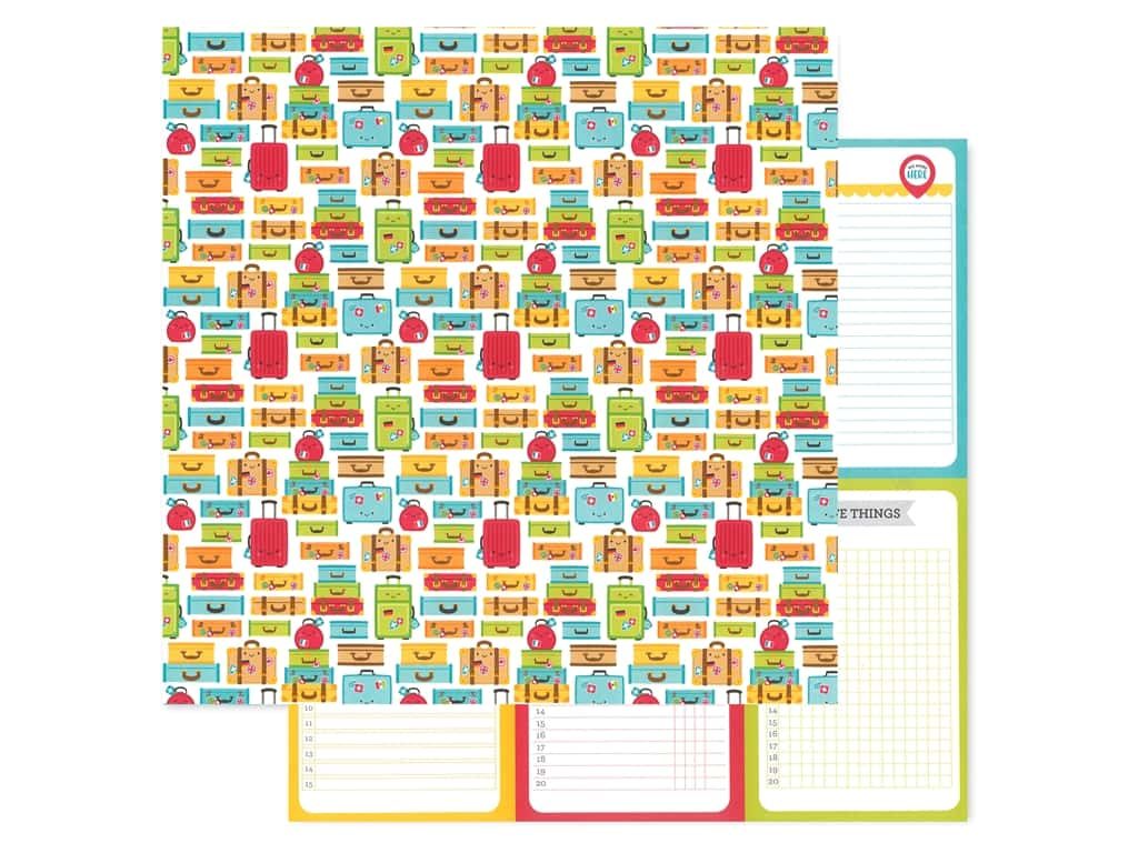 Doodlebug Collection I Heart Travel Paper 12 in. x 12 in. Vacation Time (25 pieces)