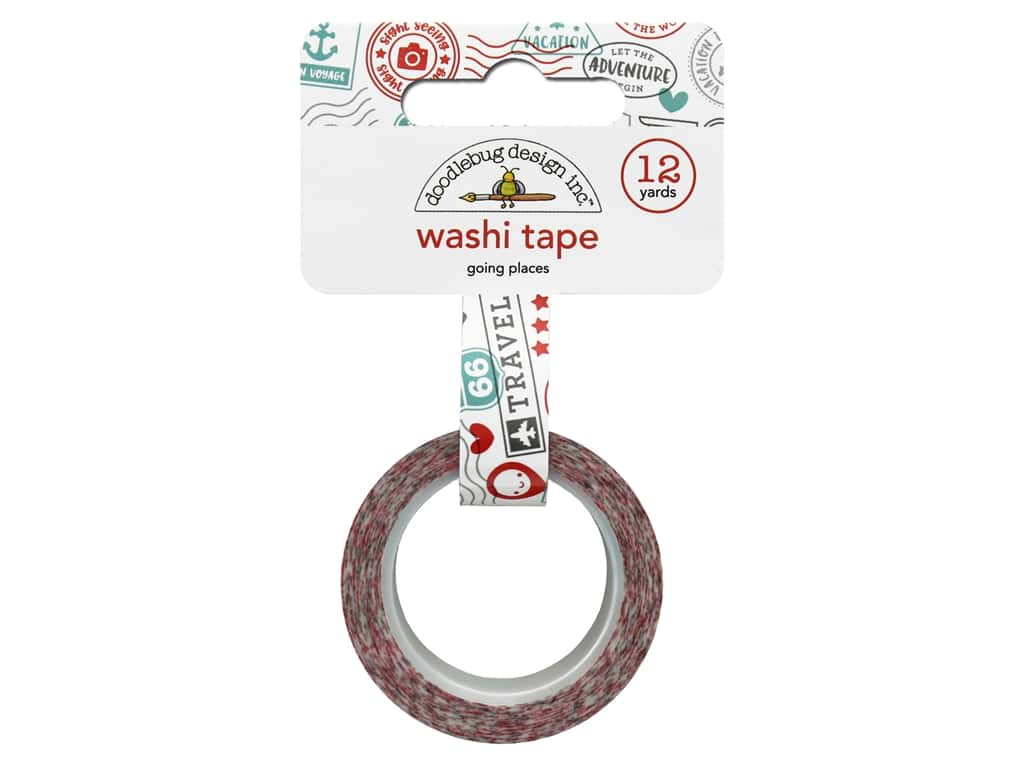 Doodlebug Collection I Heart Travel Washi Tape Going Places