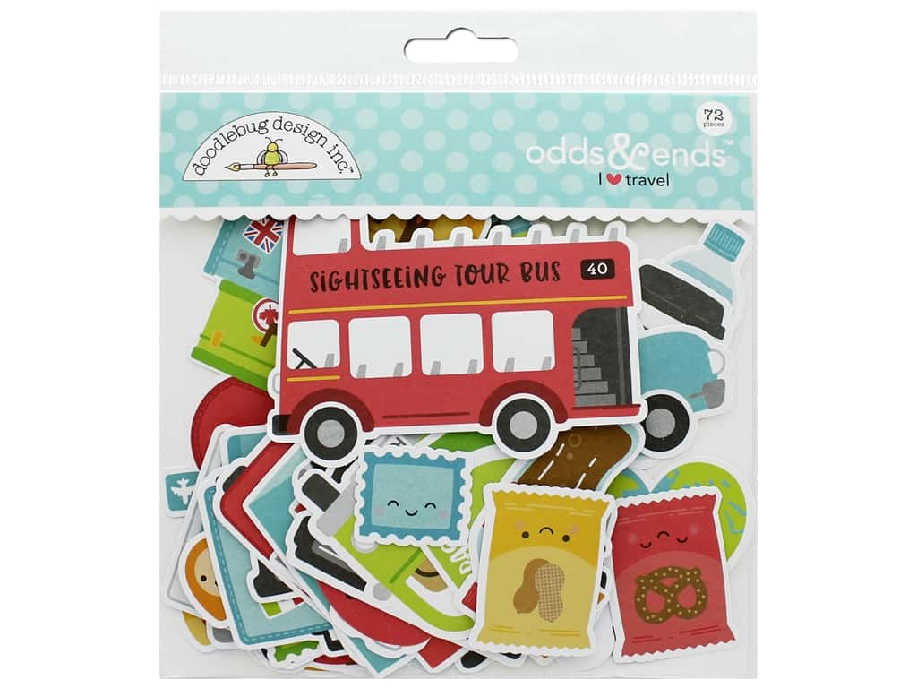 Doodlebug Collection I Heart Travel Odds & Ends