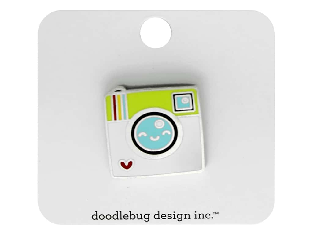 Doodlebug Collection I Heart Travel Collectible Pin Say Cheese
