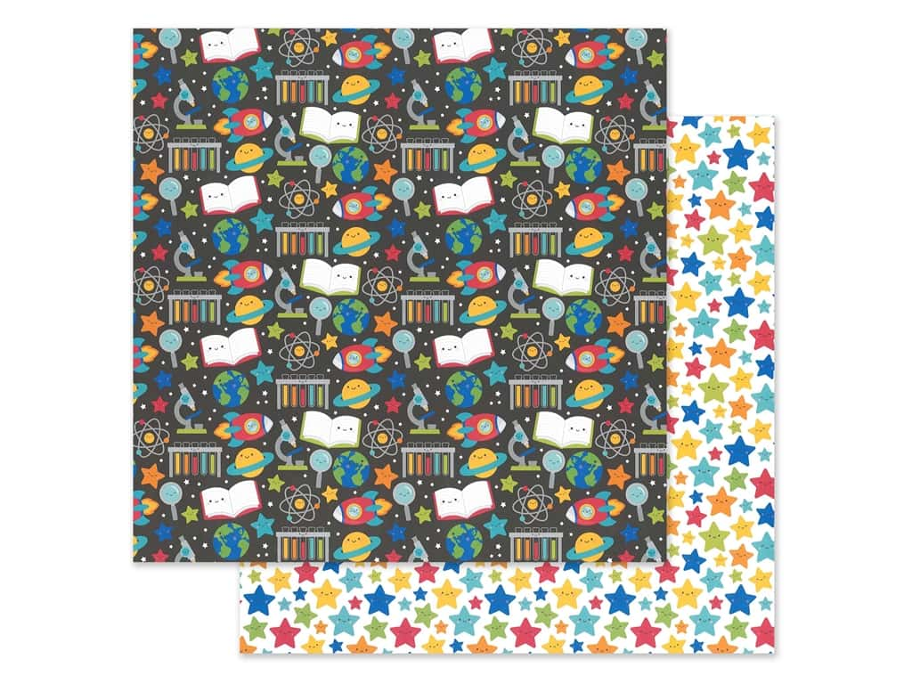 Doodlebug Collection School Days Paper 12 in. x 12 in. Scientific (25 pieces)