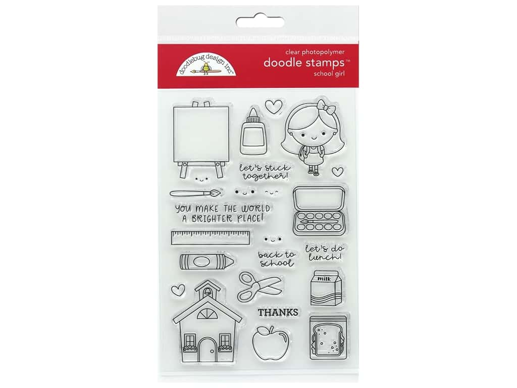 Doodlebug Collection School Days Doodle Stamps School Girl