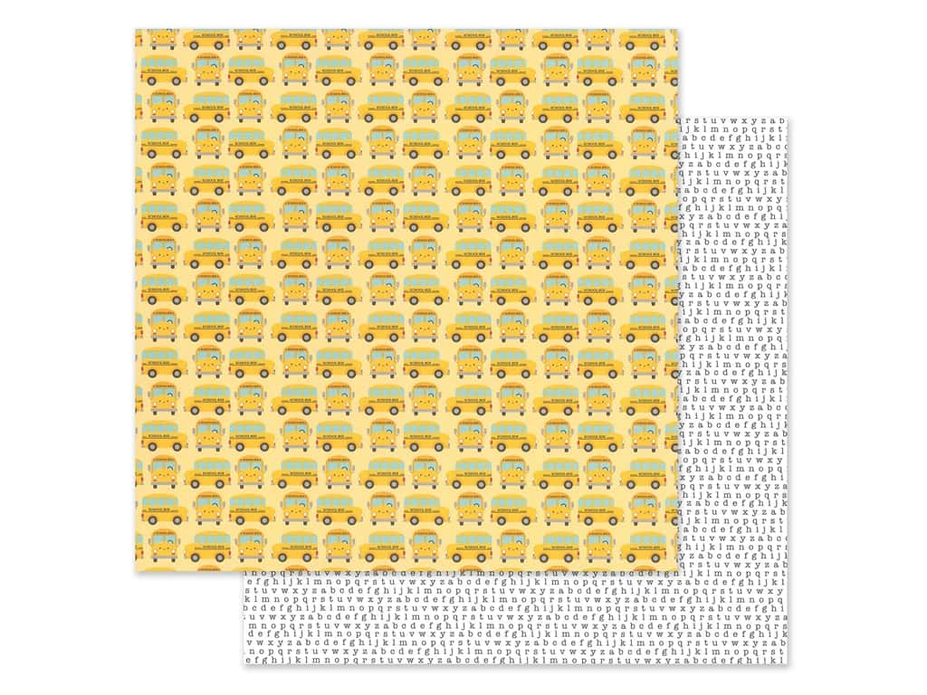 Doodlebug Collection School Days Paper 12 in. x 12 in. Field Trip (25 pieces)
