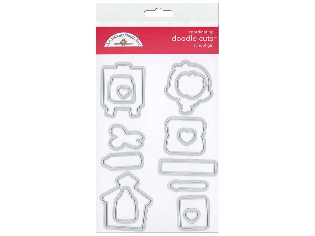 Doodlebug Collection School Days Doodle Cuts Die School Girl