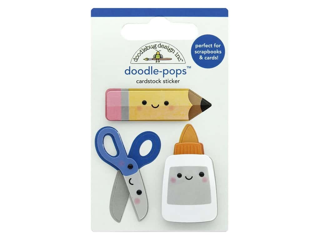 Doodlebug Collection School Days Doodle Pops Cut & Paste
