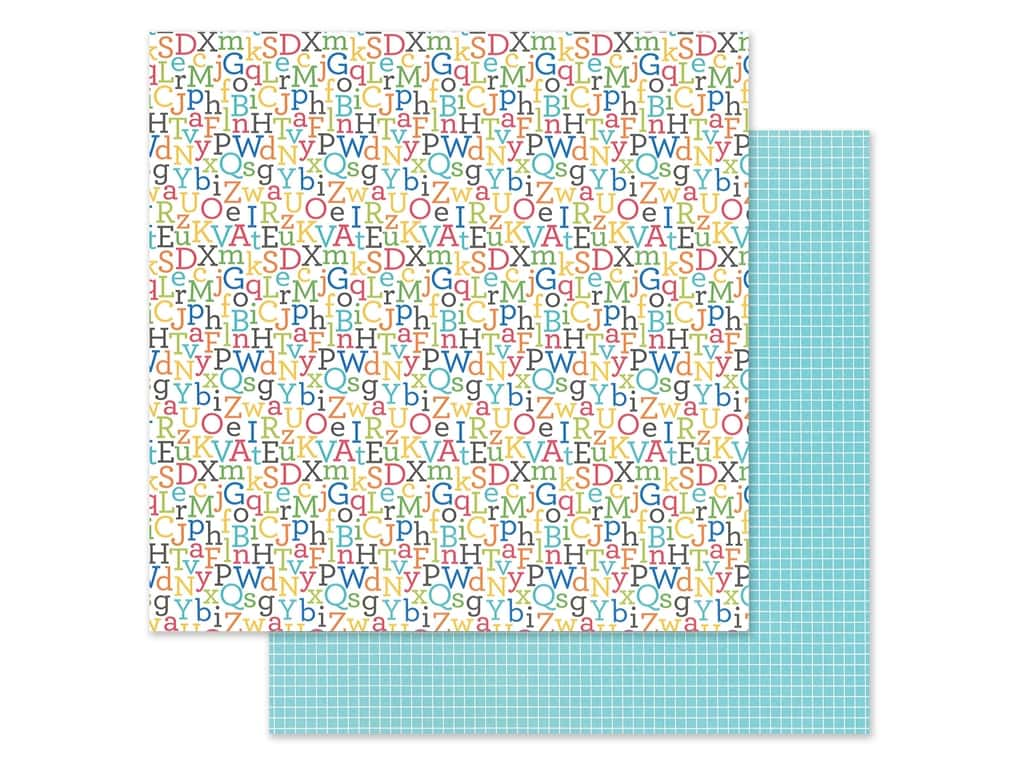 Doodlebug Collection School Days Paper 12 in. x 12 in. Spelling Bee (25 pieces)