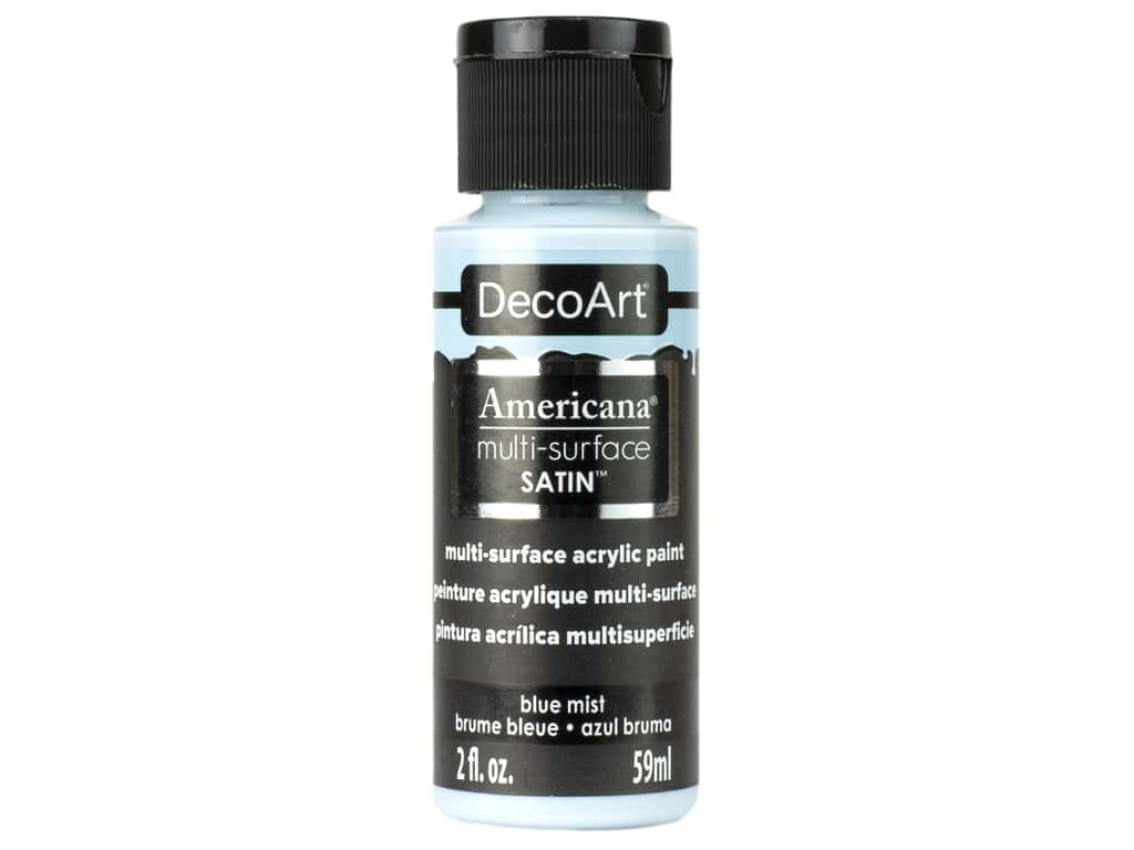 DecoArt Americana Multi Surface Acrylic Paint 2 oz Satin Blue Mist