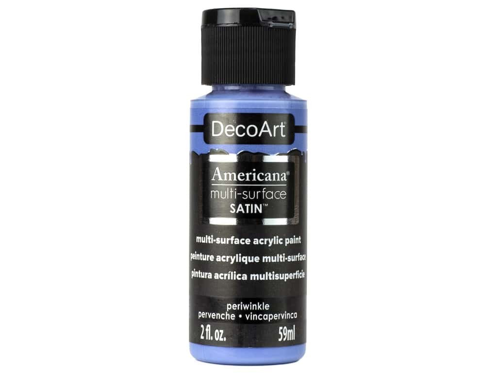 DecoArt Americana Multi Surface Acrylic Paint 2 oz Satin Periwinkle
