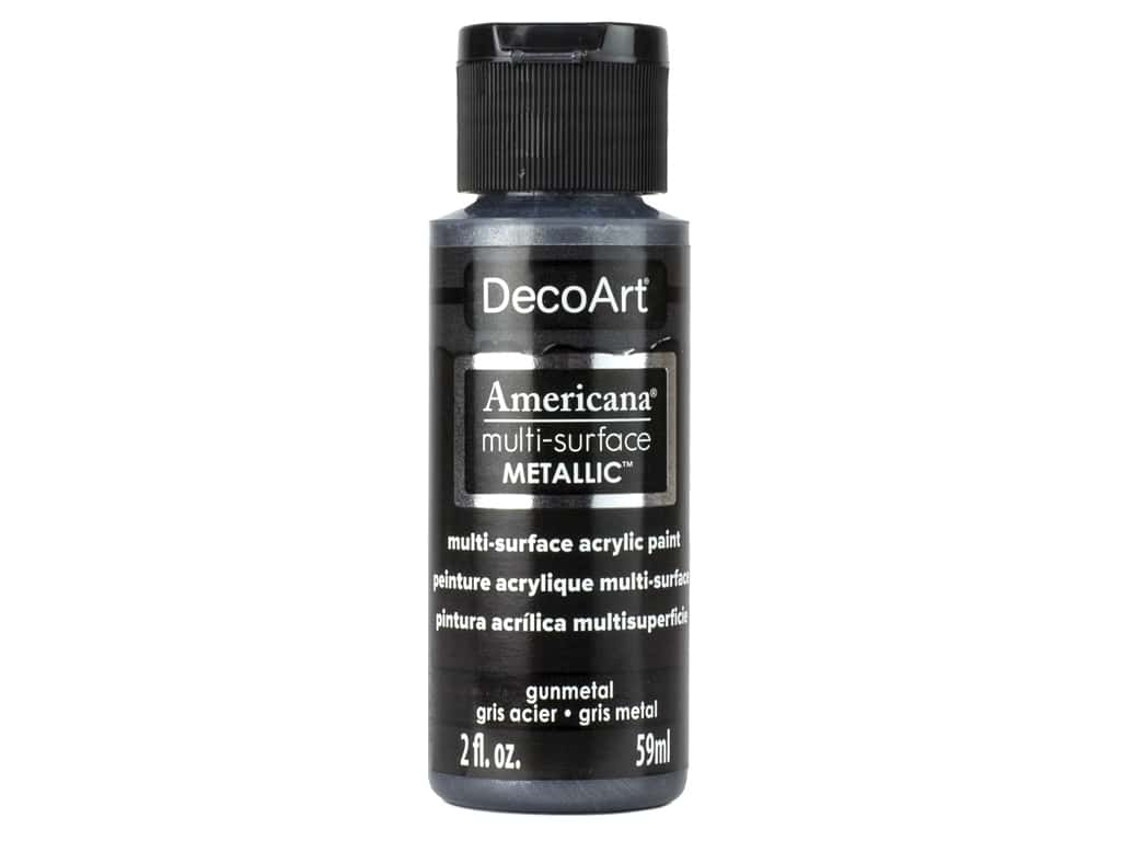 DecoArt Americana Multi-Surface Acrylics - #570 Metallic Gunmetal 2 oz.