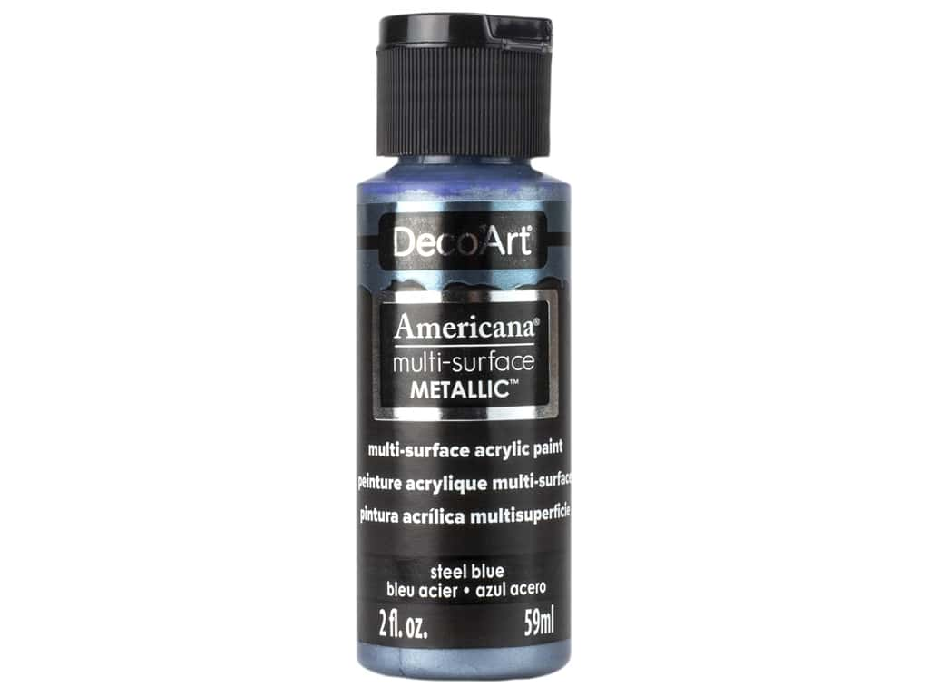 DecoArt Americana Multi-Surface Acrylics - #804 Metallic Steel Blue 2 oz.