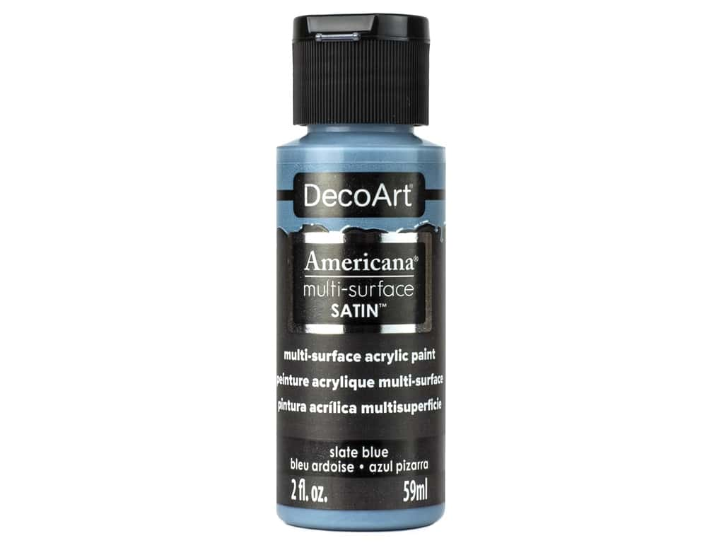 DecoArt Americana Multi Surface Acrylic Paint 2 oz Satin Slate Blue