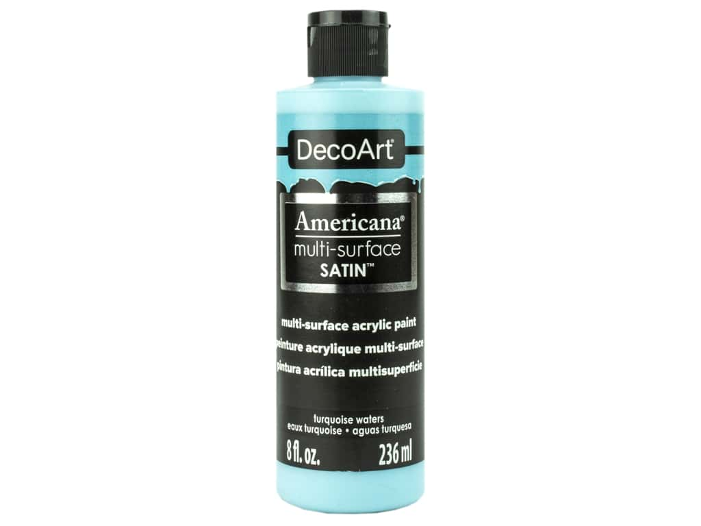 DecoArt Americana Multi Surface Acrylic Paint 8 oz Satin Turquoise Waters