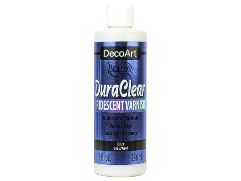 DecoArt Americana Varnish 8 oz Iridescent Blue