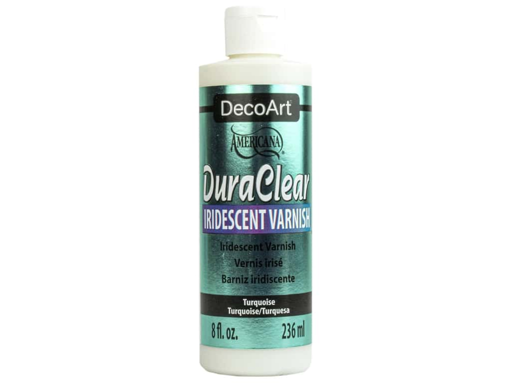 DecoArt Americana Varnish 8 oz Iridescent Turquoise