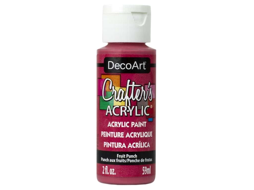 DecoArt Crafter's Acrylic Paint 2 oz Fruit Punch