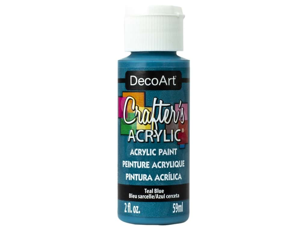 DecoArt Crafter's Acrylic Paint 2 oz Teal Blue