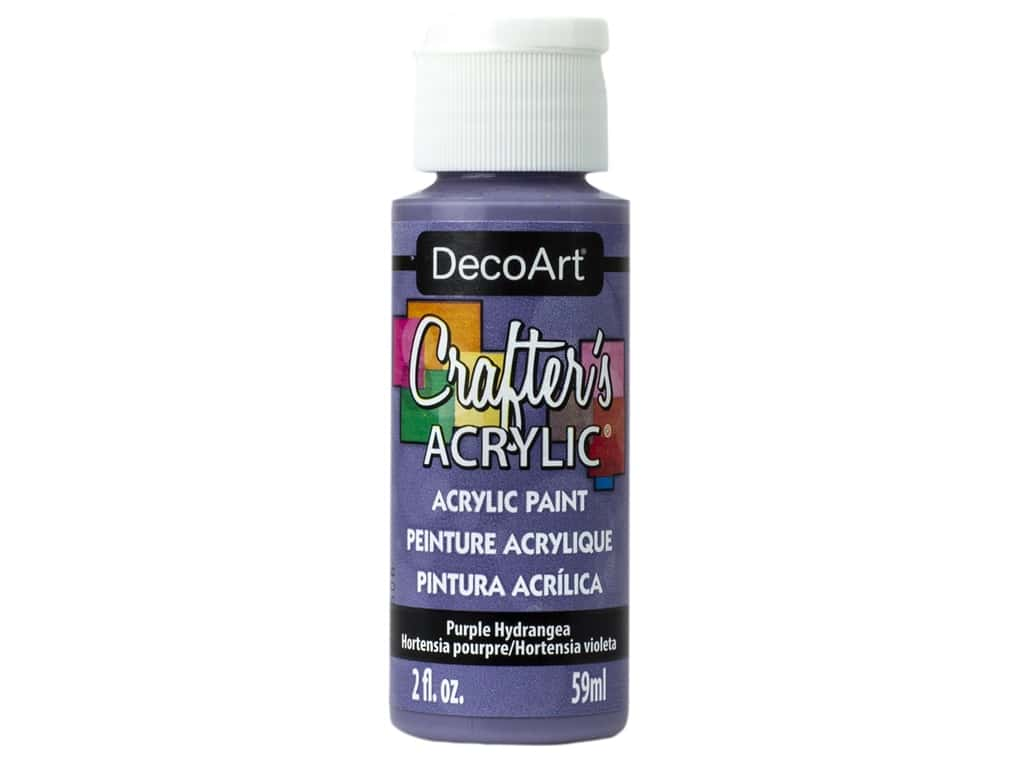 DecoArt Crafter's Acrylic Paint 2 oz Purple Hydrangea