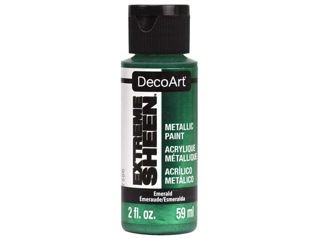 Decoart Extreme Sheen Metallic Paint 2 oz Emerald
