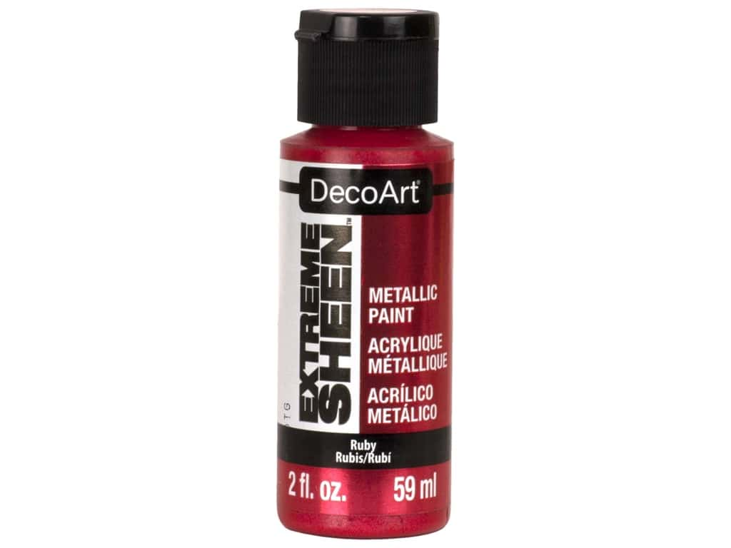 Decoart Extreme Sheen Metallic Paint 2 oz Ruby