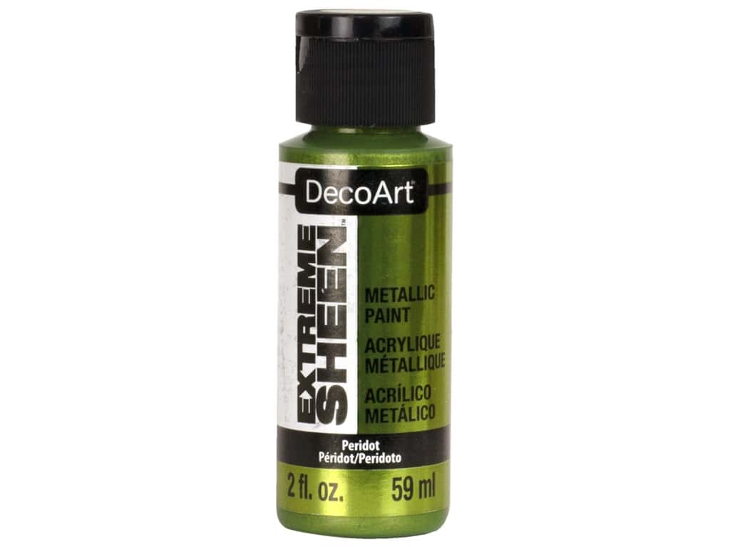 Decoart Extreme Sheen Metallic Paint 2 oz Peridot