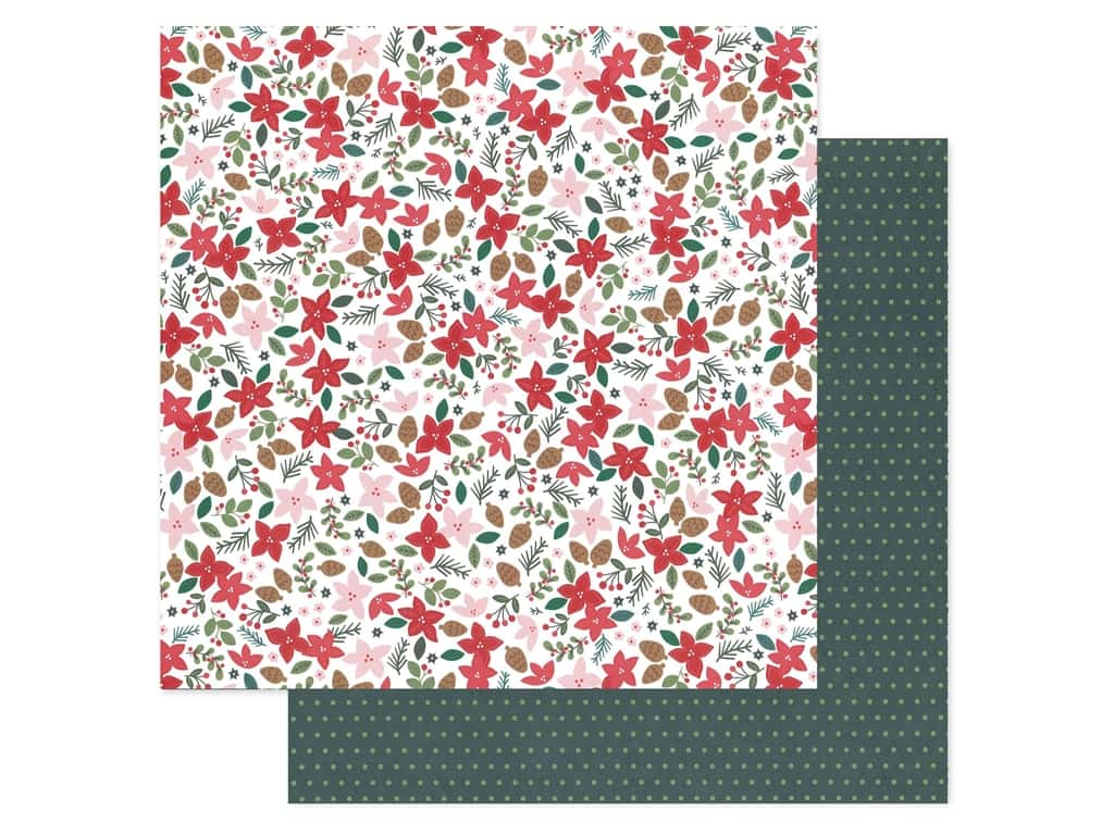 Pebbles Collection Merry Little Christmas Paper 12 in. x 12 in. Deck The Halls (25 pieces)