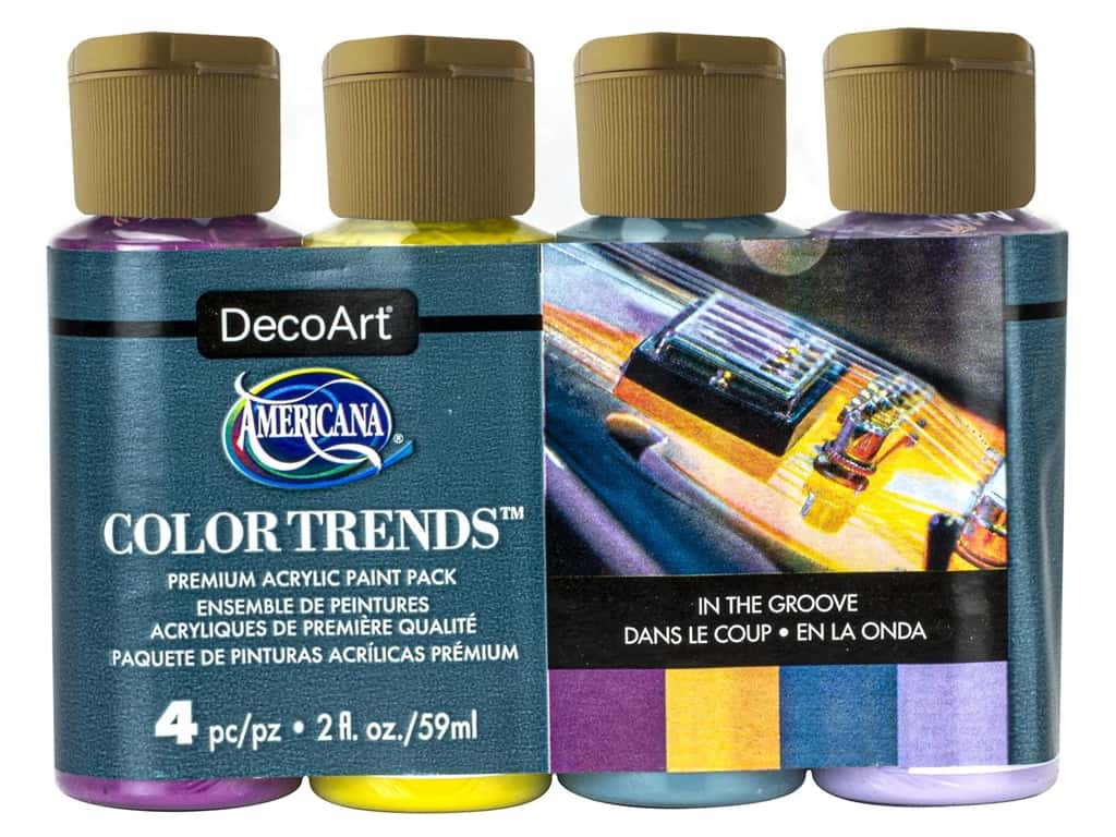 DecoArt Americana Acrylic Paint In The Groove 4 pc