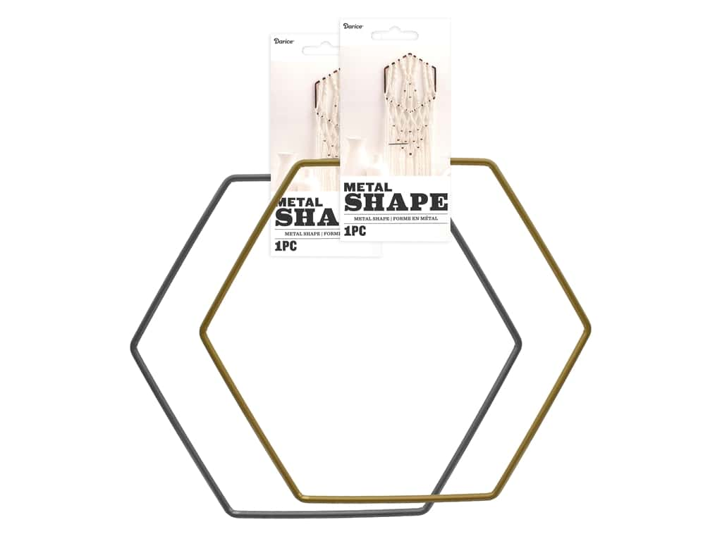Darice Metal Ring Shape Assorted Large Hexagon