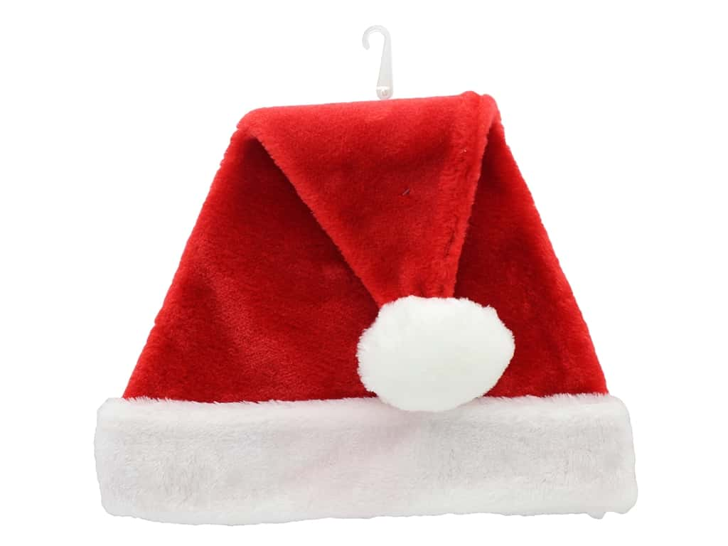 Darice Plush Hat 15.5 in. Red