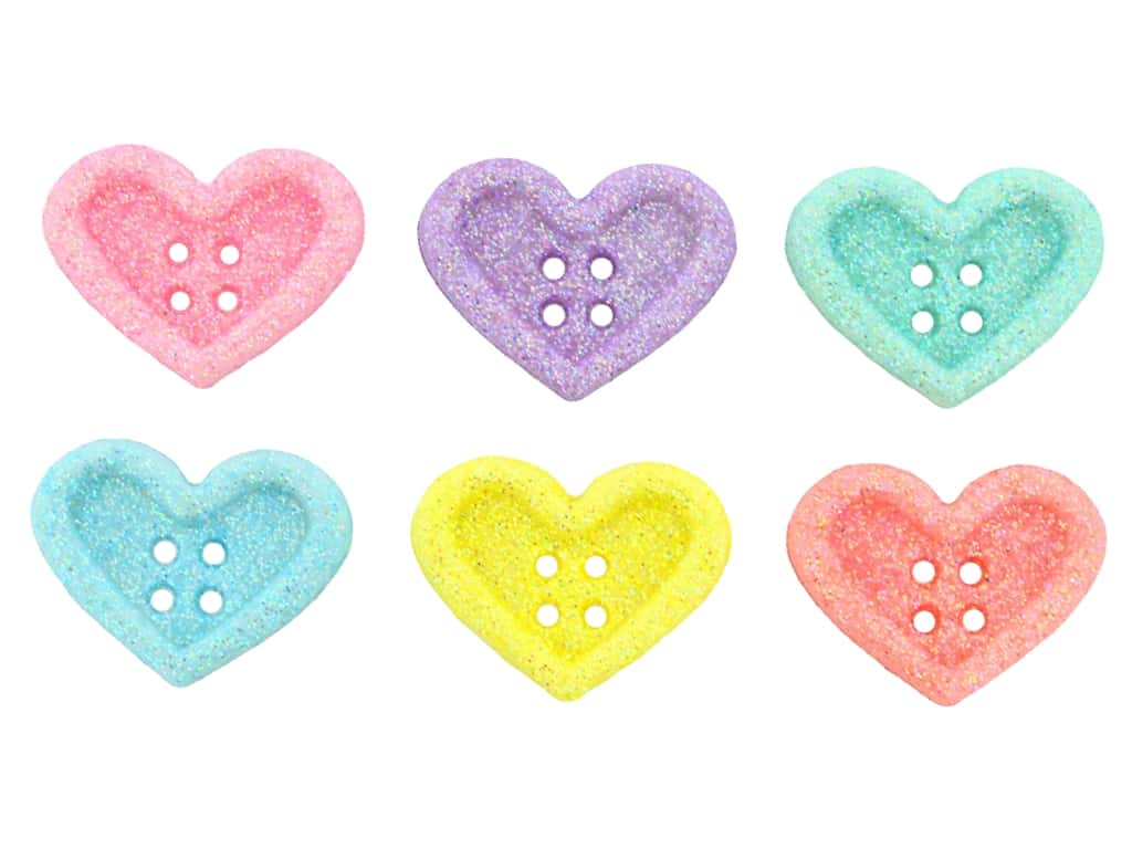 Jesse James Embellishments Candy Hearts