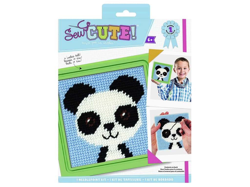 Colorbok Kit Sew Cute Needlepoint Paul Panda
