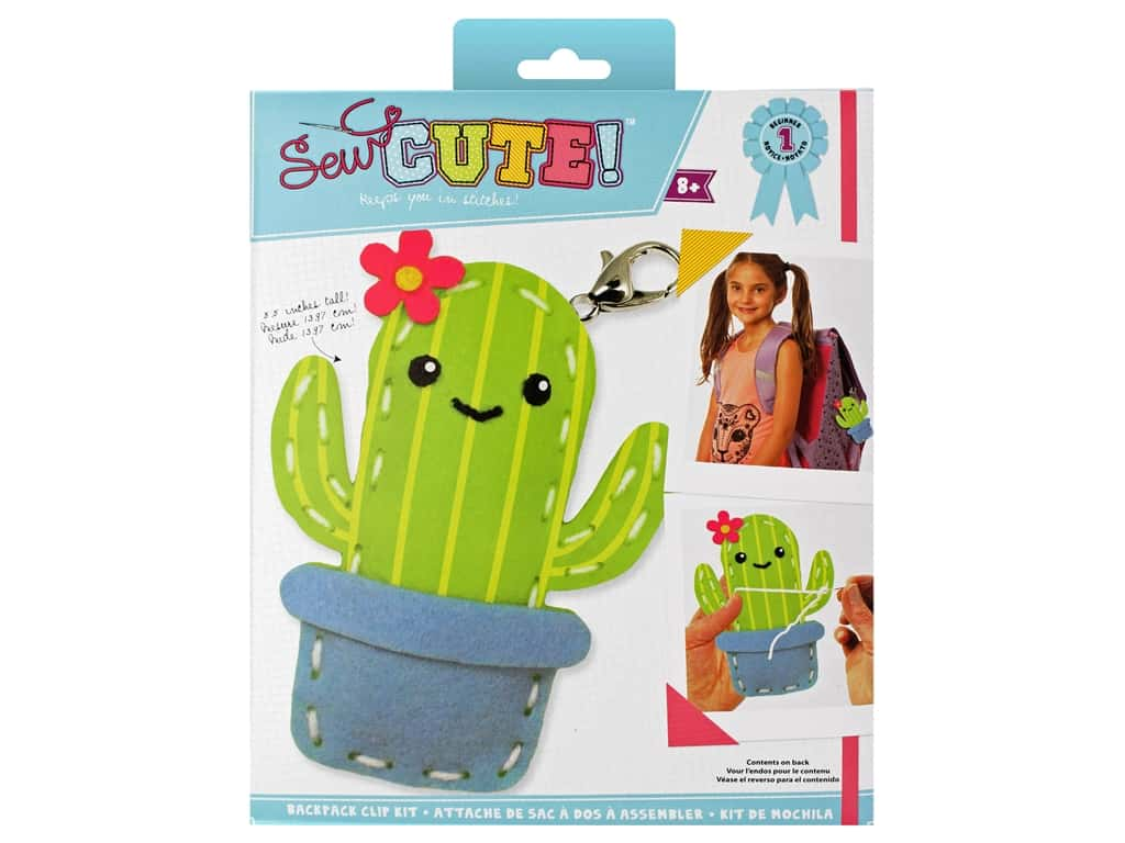 Colorbok Kit Sew Cute Backpack Clip Cactus