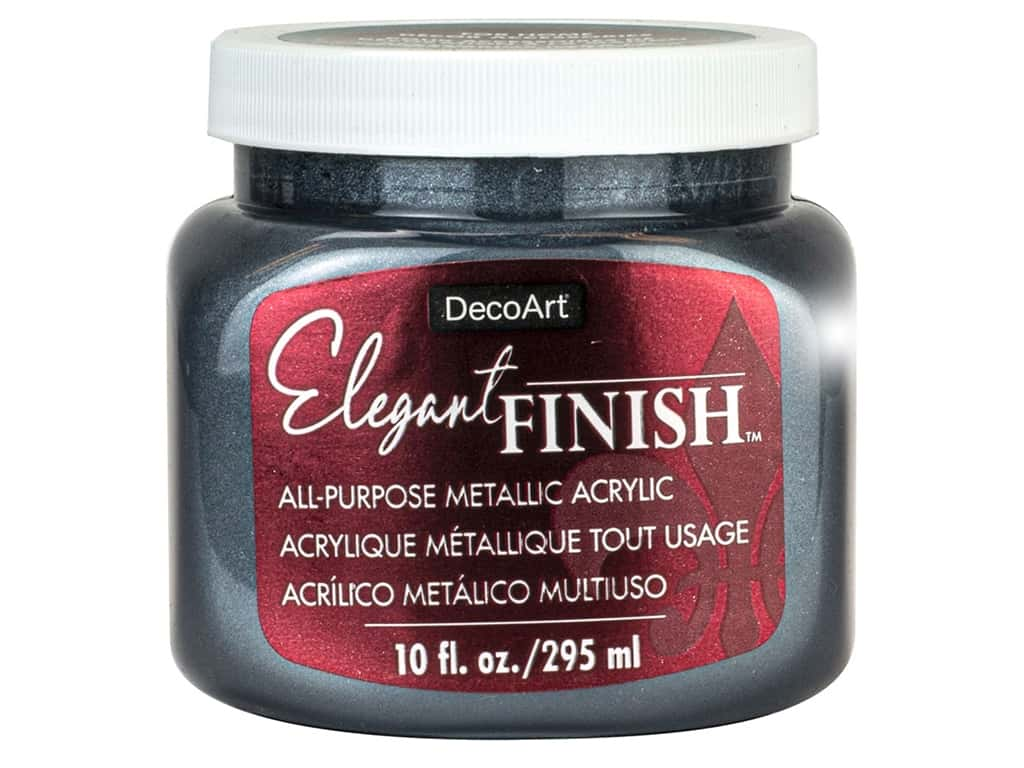 DecoArt Elegant Finish Glaze10 oz Metallic Pewter