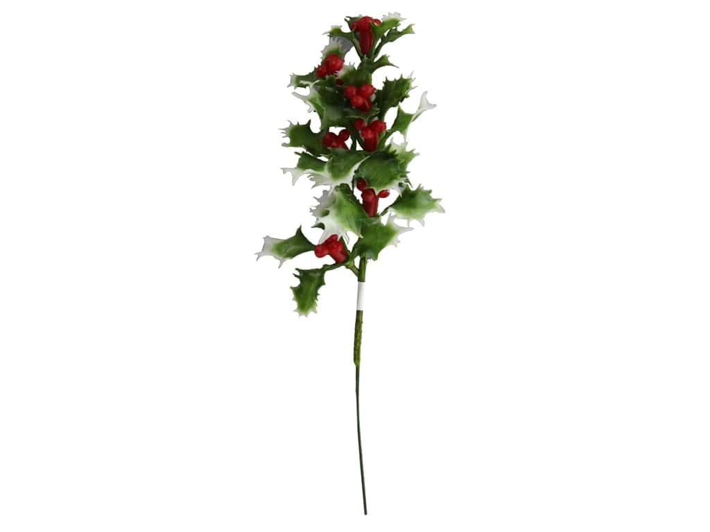 Darice Pick Christmas Holly Green Variegated Mix