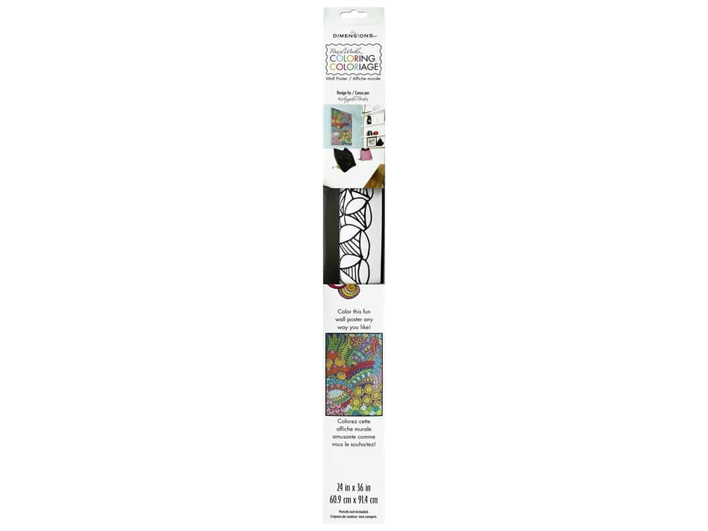 Paint Works Coloring Wall Poster 24 in. x 36 in. Flowers