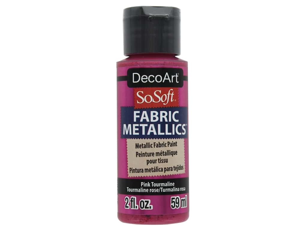 DecoArt SoSoft Fabric Paint 2 oz. Metallic Pink Tourmaline