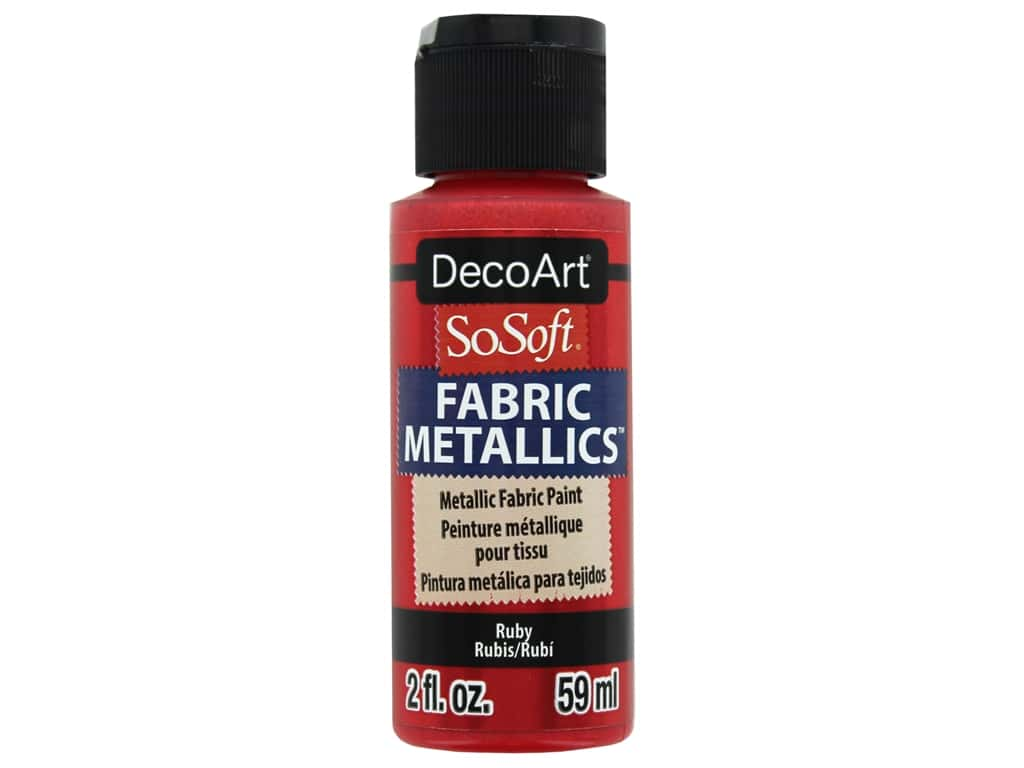DecoArt SoSoft Fabric Paint 2 oz. Metallic Ruby