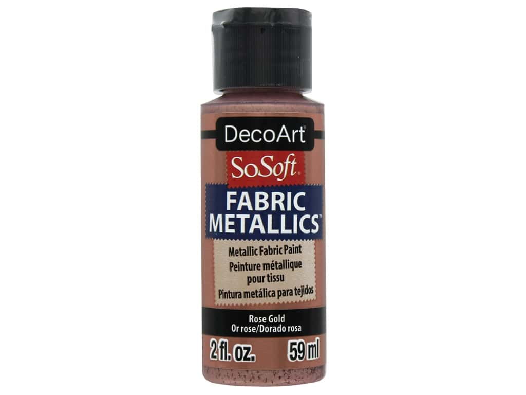 DecoArt SoSoft Fabric Paint 2 oz Metallic Rose Gold