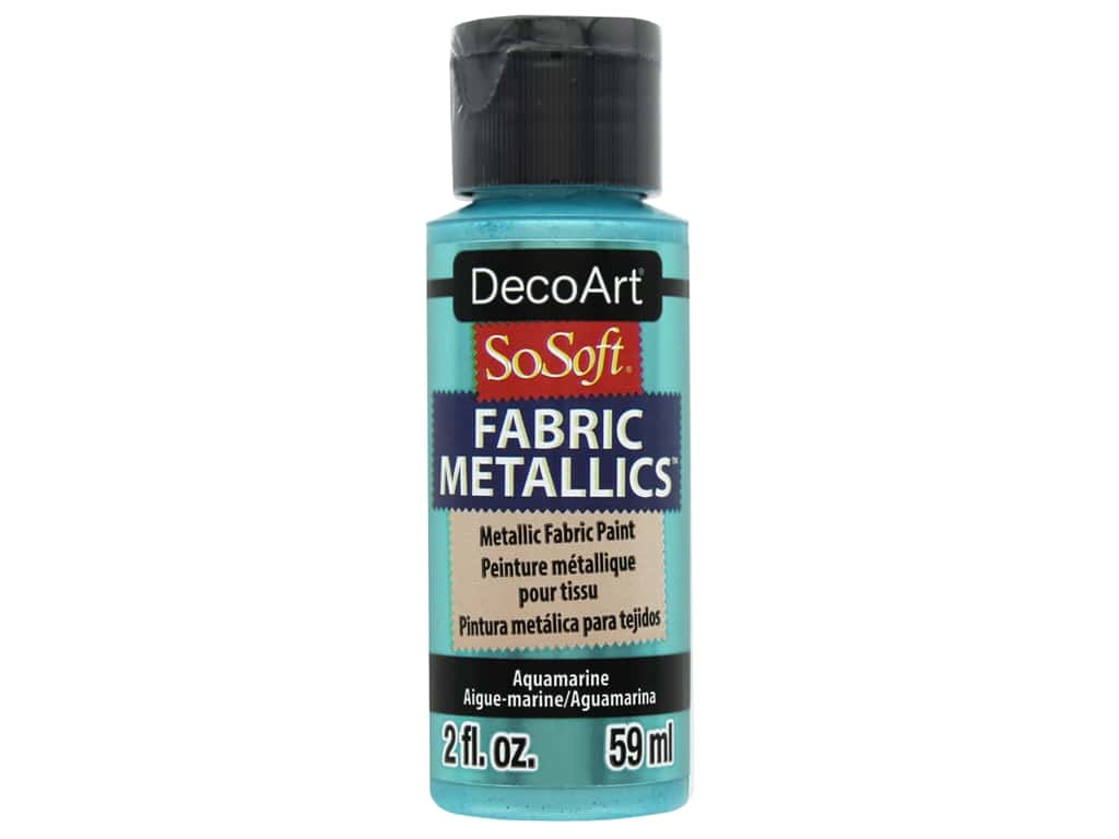 DecoArt SoSoft Fabric Paint 2 oz Metallic Aquamarine