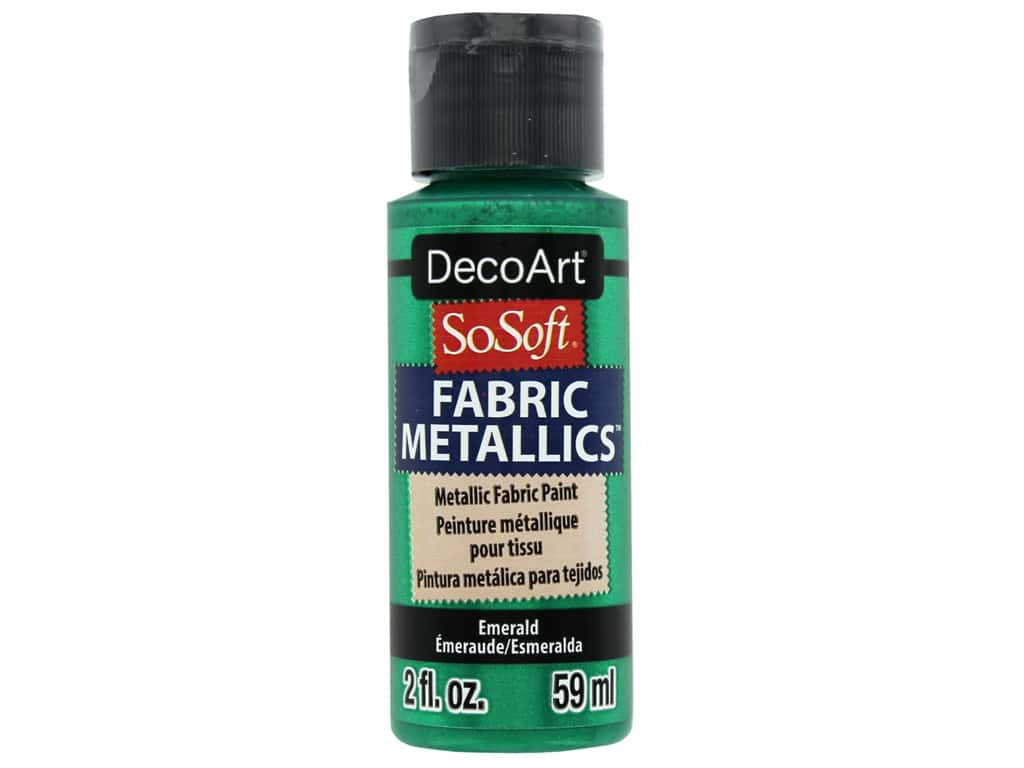 DecoArt SoSoft Fabric Paint 2 oz. Metallic Emerald