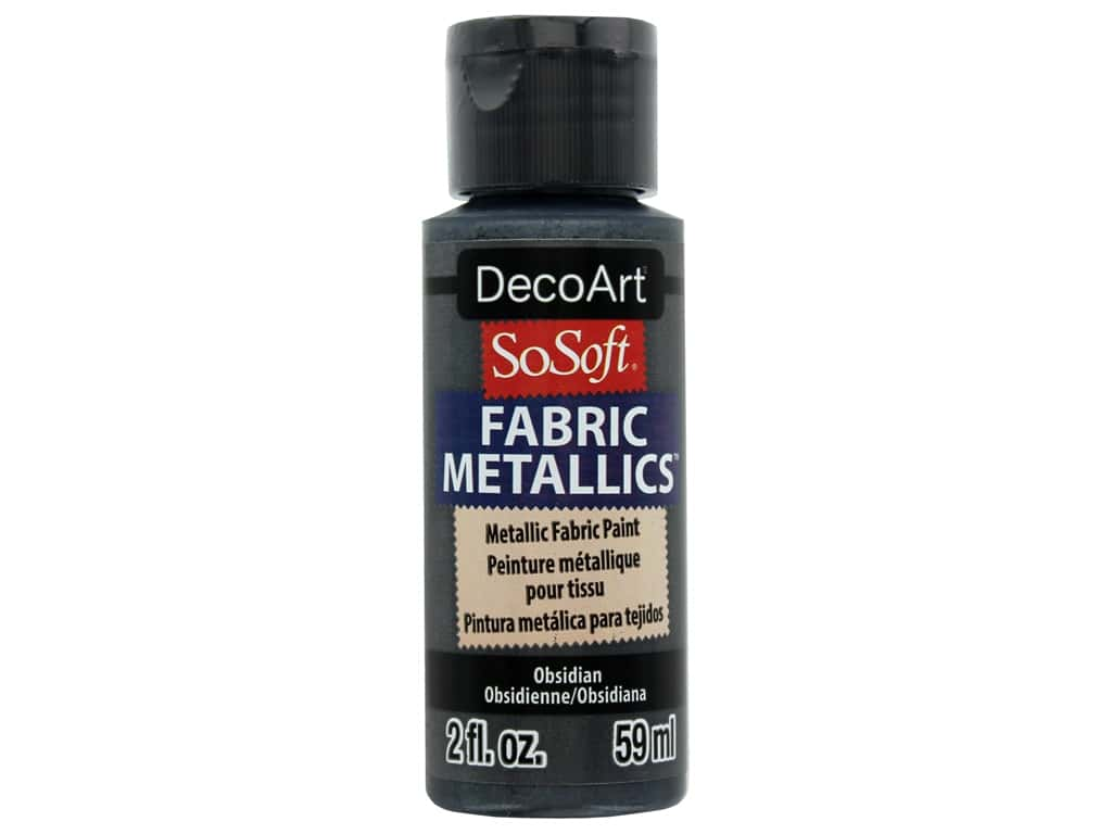 DecoArt SoSoft Fabric Paint 2 oz. Metallic Obsidian