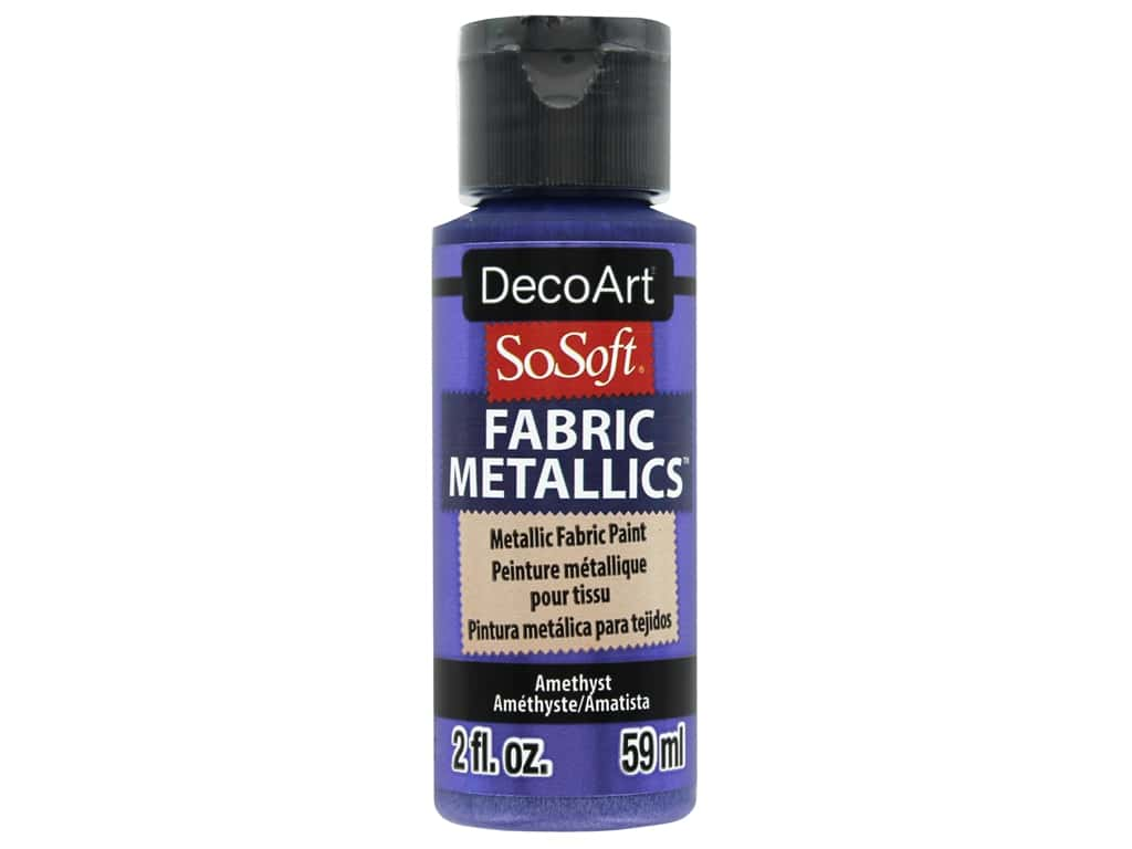 DecoArt SoSoft Fabric Paint 2 oz. Metallic Amethyst