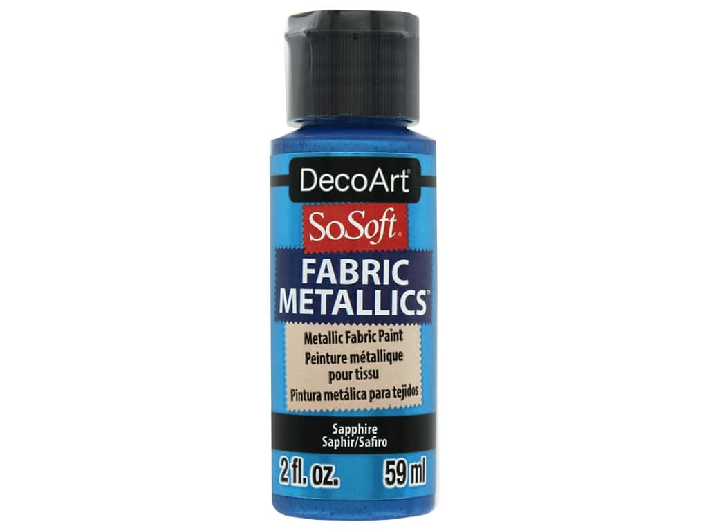 DecoArt SoSoft Fabric Paint 2 oz. Metallic Sapphire