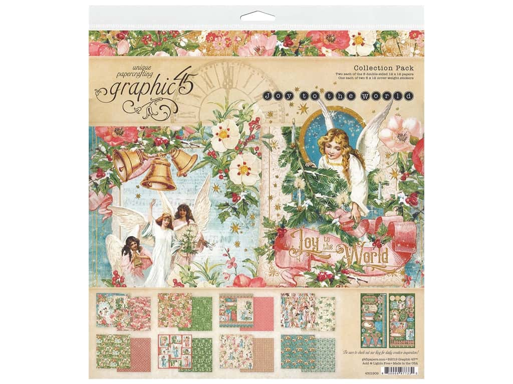 Graphic 45 Collection Joy To The World Collection Pack 12 in. x 12 in.