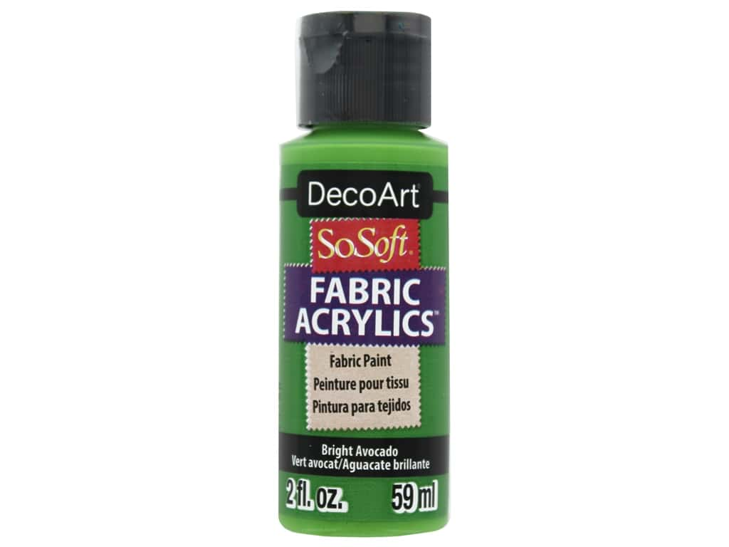 DecoArt SoSoft Fabric Paint 2 oz Bright Avocado