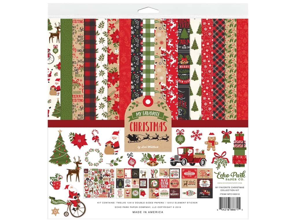 Echo Park Collection My Favorite Christmas Collection Kit 12 in. x 12 in.