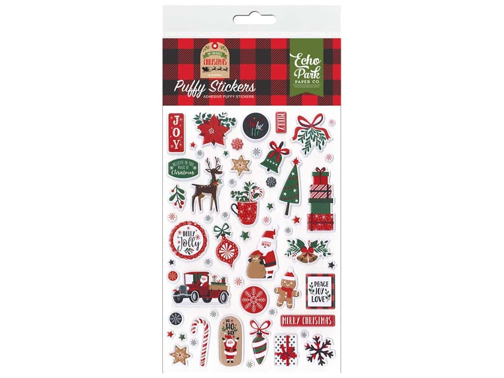 Echo Park Collection My Favorite Christmas Sticker Puffy