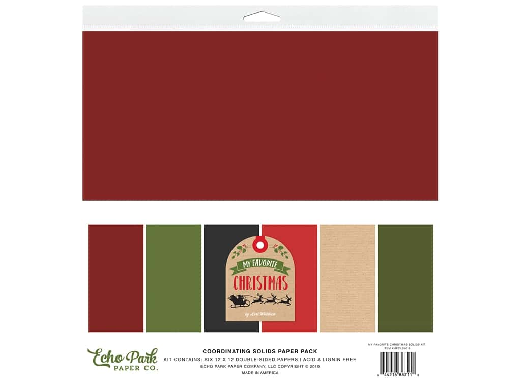 Echo Park Collection My Favorite Christmas Solid Kit 12 in. x 12 in.