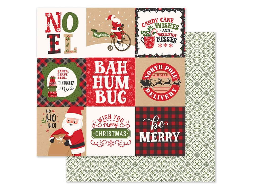 Echo Park Collection My Favorite Christmas Paper 12 in. x 12 in. Journaling Cards 4 in. x 4 in. (25 pieces)